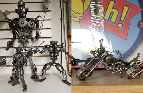 metal statues springfield il
